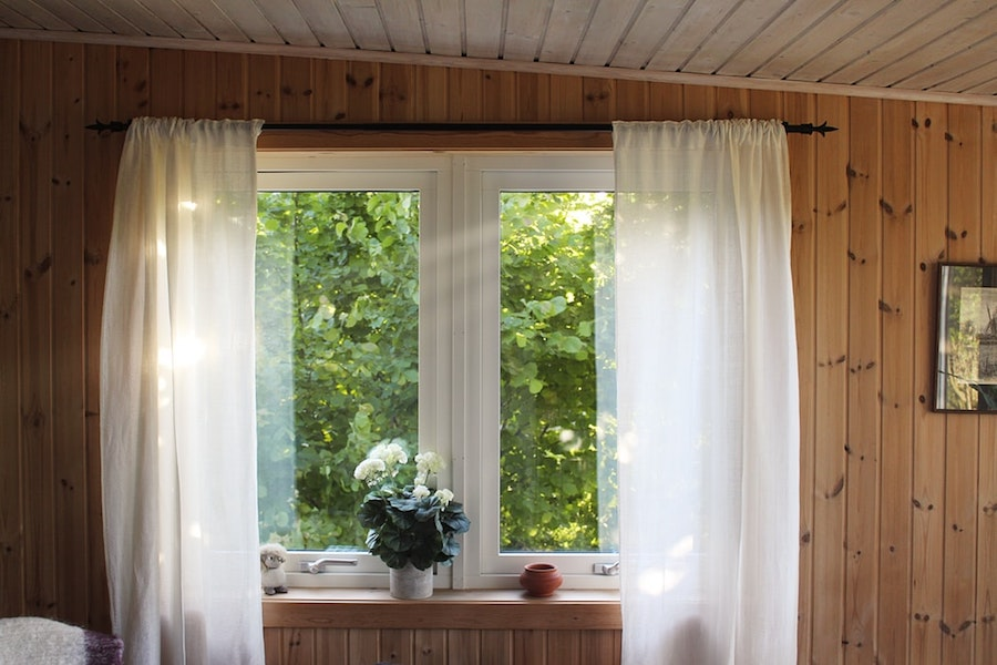 A staged and cleaned home with a window view.